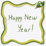 vector new year  snake Royalty Free Stock Image