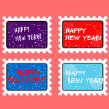 Vector new year stamp and postmark Stock Photo