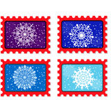Vector new year stamp and postmark Stock Image