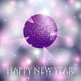 Vector New Years background with Disco ball Stock Image