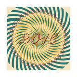 Vector new years vintage retro greeting card Royalty Free Stock Photos