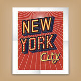 Vector New York City poster Stock Images