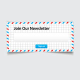 Vector newsletter Stock Photography