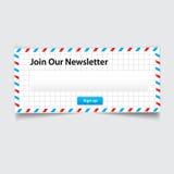 Vector newsletter Stock Photography