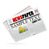 Vector newspaper. Illustration of  newspaper on isolated background Stock Image