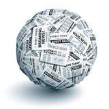 Vector newspaper ball Stock Image