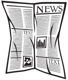 Vector newspaper icon Stock Photo