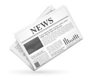 Vector newspaper icon, business news. Stock Photo