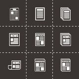 Vector newspaper icon set Royalty Free Stock Photography