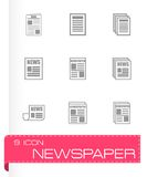 Vector newspaper icon set Stock Image
