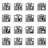 Vector Newspaper icon set Stock Photography