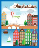 Vector Nice Amsterdam City Background Stock Photo