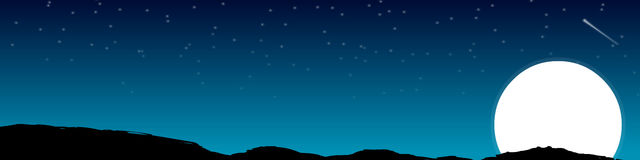 Vector - Night Background. Vector Elements of a night background Royalty Free Stock Image