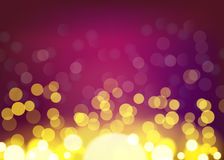 Vector night bokeh background, abstract with defocused lights. Stock Image