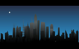Vector night city. Illustration background wallpaper Royalty Free Stock Photo