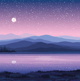 Vector night landscape Stock Images