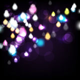Vector night lights background Stock Images