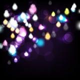 Vector night lights background vector illustration
