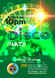 Vector night party invitation disco style. Vector template Stock Image