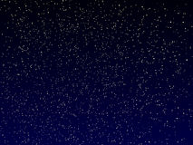Vector night sky. Vector dark blue night sky with stars