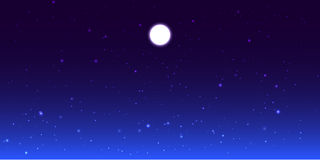 Vector night sky with moon Stock Images
