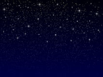 Vector night sky with stars Stock Image