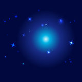 Vector night sky - vector illustration Stock Images