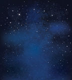 Vector night starry sky background. Stock Images