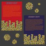 Vector night windows pattern. Vector night city windows pattern stock illustration