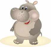 Vector nijlpaard Royalty-vrije Stock Foto's