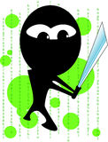Vector ninja Royalty Free Stock Photo