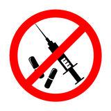 Vector no drugs symbol Stock Photography