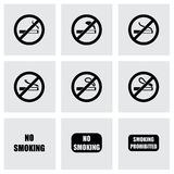 Vector no smoking icon set. On grey background Stock Photo