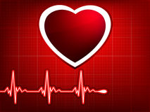 Vector normal ecg red background. EPS 8 Stock Photography