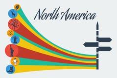 Vector north america safari. Adventure travel tourism. Flat graphics eps10 Stock Photos