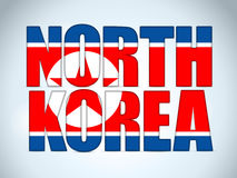 North Korea Country Letter Background Royalty Free Stock Photos
