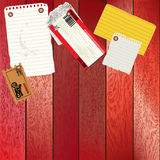 Vector Note Board with various note/ticket template Royalty Free Stock Images