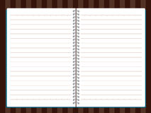 Vector of Note Book. On wood background Stock Photography