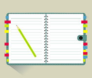 Vector of Note Book Stock Photography