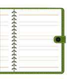 Vector of Note Book. On wood background Royalty Free Stock Photos