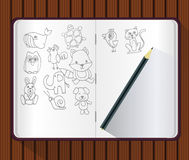 Vector of Note Book Royalty Free Stock Photos