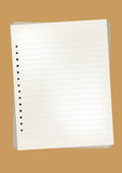 Vector note paper Royalty Free Stock Photo