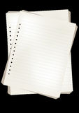 Vector note papers Royalty Free Stock Photos