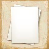Vector note sheets of paper Royalty Free Stock Photo