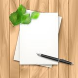 Vector note sheets of paper Stock Photos