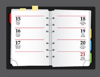 Vector notebook. On grey background Royalty Free Stock Image
