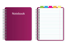 Vector notebook. On white background Stock Image