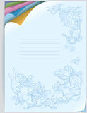 Vector notebook cover. Curved corners of colored p Royalty Free Stock Image