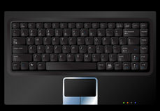 Vector notebook keyboard Stock Photography