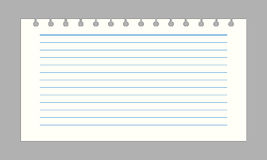 Vector notebook paper Royalty Free Stock Photography